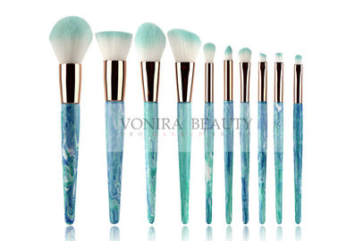 10pcs  Soft Synthetic Hair Mass Level Makeup Brushes Globle - Look