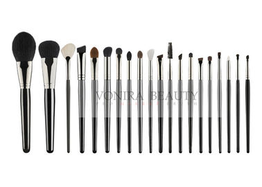 China Natural Hair Beauty Professional Brush Set 100% Cruelty Free With Wood Handle factory