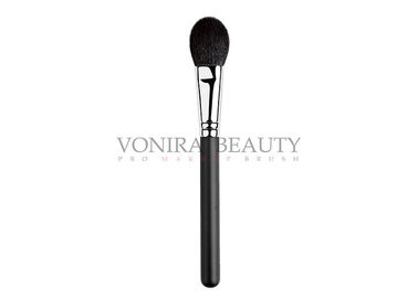 China Paddle Cheek Private Label Makeup Brushes Black Color With Goat Hair factory